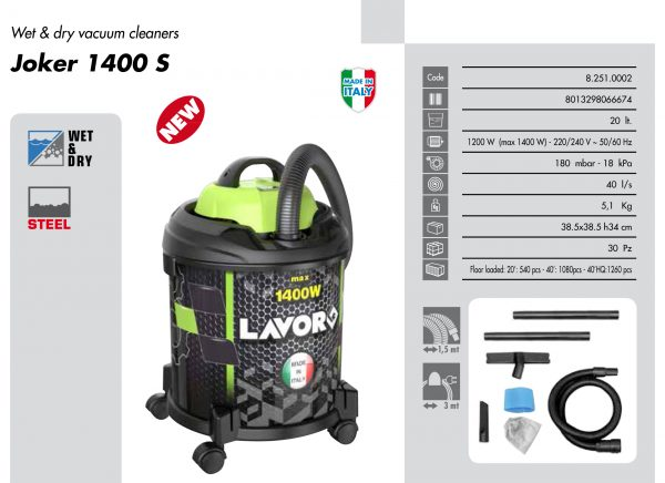 LAVOR HOME USE VACUUM CLEANER JOKER