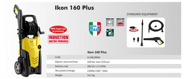 HIGH PRESSURE CLEANER LAVOR – IKON 160 – MADE IN ITALY
