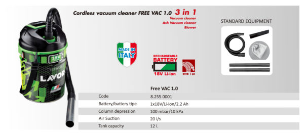 JUAL FREE VAC - VACUUM CLEANER LAVOR MADE IN ITALY