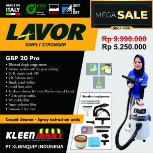 VACUUM CLEANERS – INJECTION EXTRACTION – GBP 20 – MADE IN ITALY