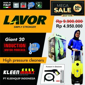HIGH PRESSURE CLEANER LAVOR – GIANT 20 – MADE IN ITALY