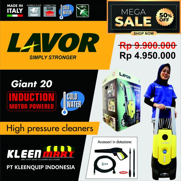 PROMO HIGH PRESSURE CLEANER GIANT 20 - HIGH PRESSURE CLEANER LAVOR MADE IN ITALY