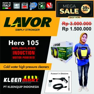 HIGH PRESSURE CLEANER LAVOR – HERO 105 – MADE IN ITALY