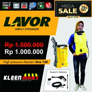 HIGH PRESSURE CLEANER LAVOR – ONE 120 – MADE IN ITALY