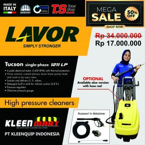 HIGH PRESSURE CLEANER LAVOR – TUCSON 1211 LP (SINGLE-PHASE) – MADE IN ITALY