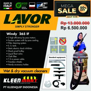 VACUUM CLEANER WET & DRY LAVOR – WINDY 265 IF – MADE IN ITALY