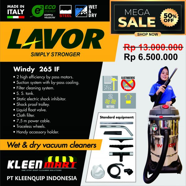PROMO VACUUM CLEANER WINDY 265 IF - VACUUM CLEANER LAVOR MADE IN ITALY
