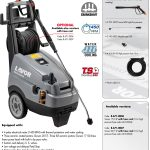 HIGH PRESSURE CLEANER LAVOR – TUCSON 2017 LP (THREE-PHASE) – MADE IN ITALY