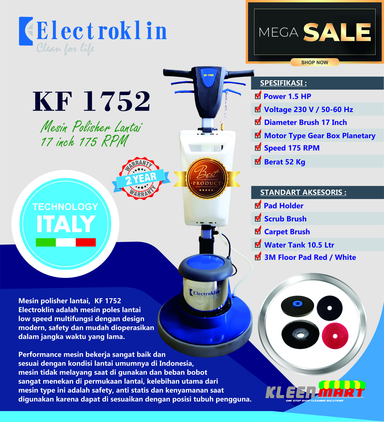 PROMO MESIN POLES LANTAI ~ POLISHER TECHNOLOGY ITALY